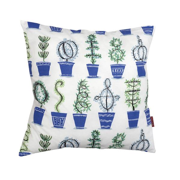 Blue plant pots, 50 x 50 cm