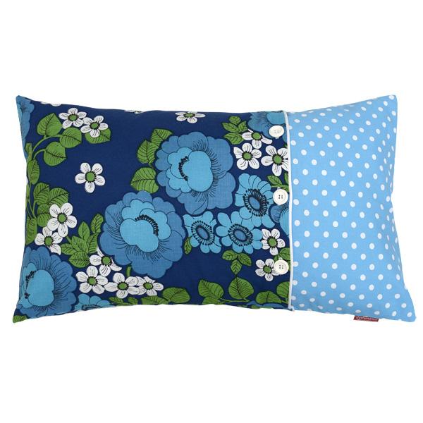 Blue floral vintage 60 x 40 cm