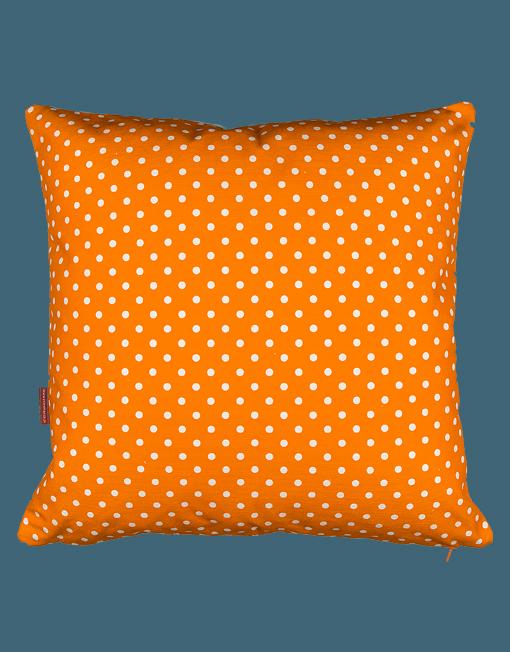 Kudde - Orange vita prickar