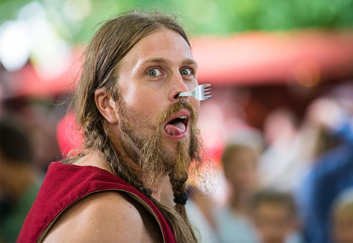Gycklare på medeltidsveckan
