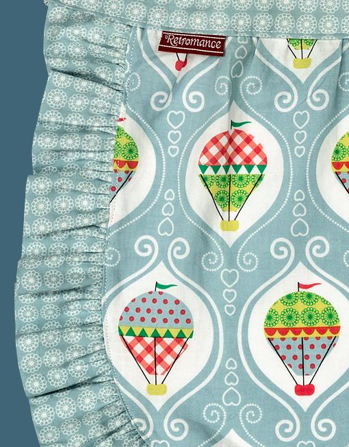 Retro Förkläde- Barn ballonger detalj