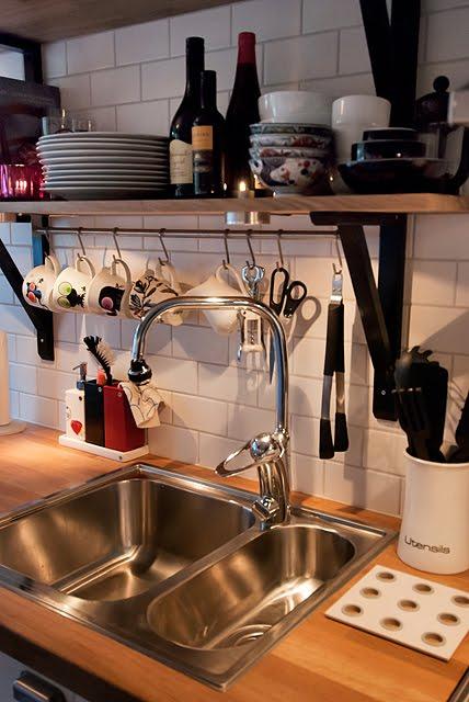 Öppna hyllor i kök