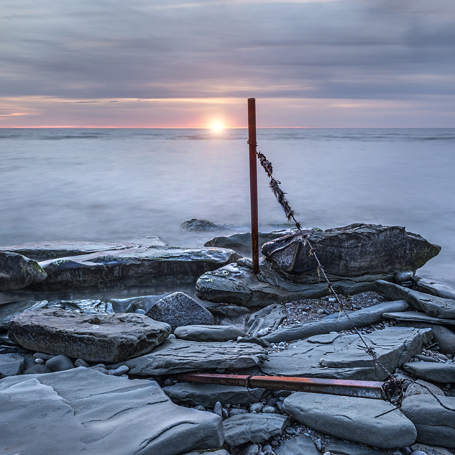 Gotland Hoburgen Solnedgång