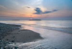 Gotland Karlsöarna Fiskare Solnedgång