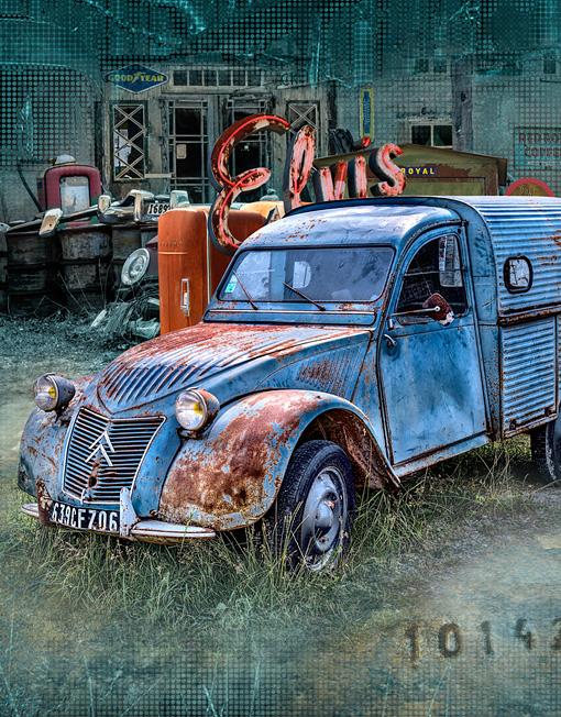 Gotland - Grafik, Kuten Lastbil detalj