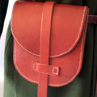 Leather bag Birka inspired