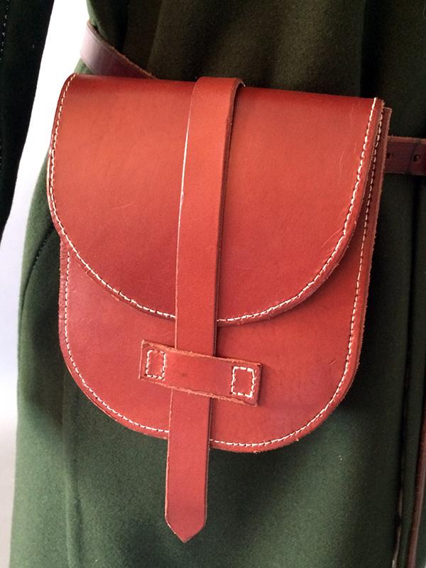 Leather bag Birka inspired