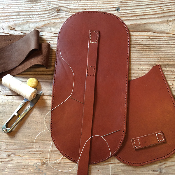Leather bag in making