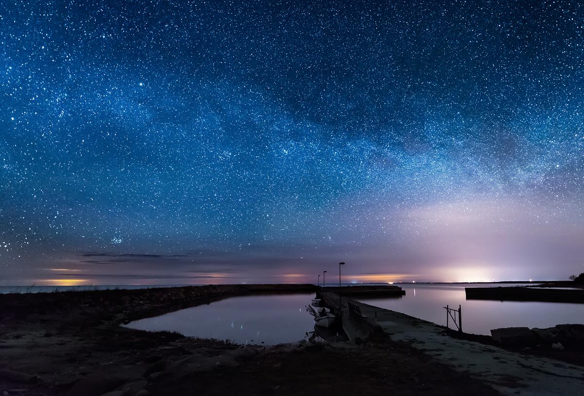 Gotland Djupvik Natt Stjärnor